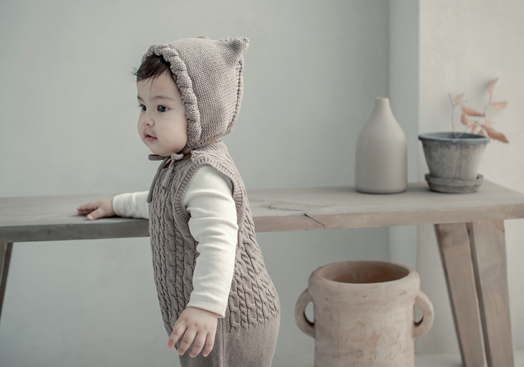 Toddler in Fla Knit Overall
